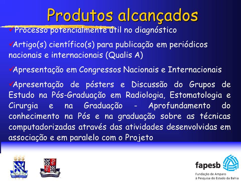 Processo potencialmente útil no diagnóstico Artigo(s) científico(s) para publicação em periódicos nacionais e internacionais (Qualis A) Apresentação e