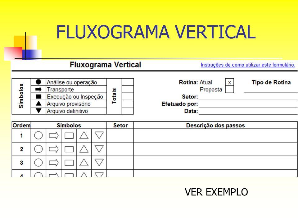 FLUXOGRAMA VERTICAL VER EXEMPLO