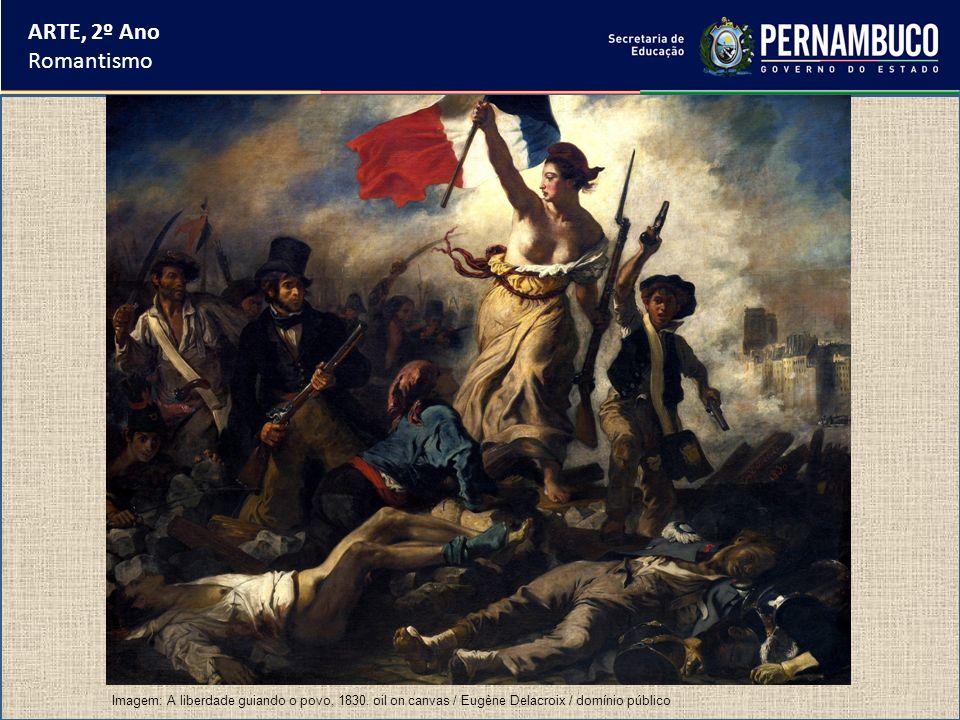 ARTE, 2º Ano Romantismo Imagem: A liberdade guiando o povo, 1830. oil on canvas / Eugène Delacroix / domínio público