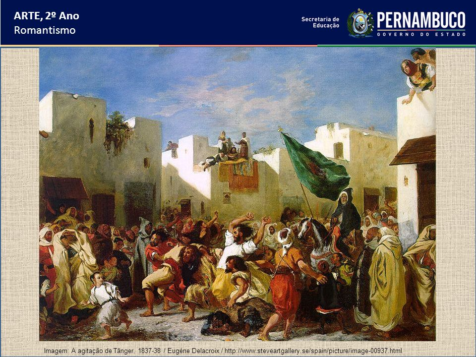 ARTE, 2º Ano Romantismo Principais artistas da Missão Francesa: Nicolas-Antonine Taunay (1775-1830) - pintor francês de grande destaque na corte de Napoleão Bonaparte e considerado um dos mais importantes da Missão Francesa.