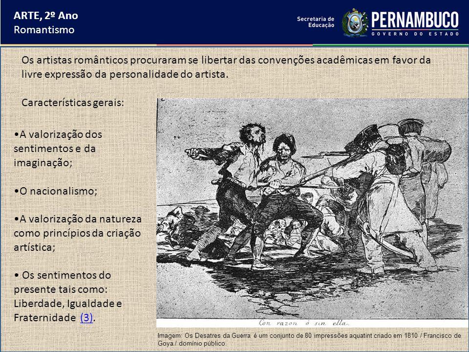ARTE, 2º Ano Romantismo Em 1818, trabalhou no projeto de ornamentação da cidade do Rio de Janeiro para os festejos da aclamação de D.João VI como rei de Portugal, Brasil e Algarve.