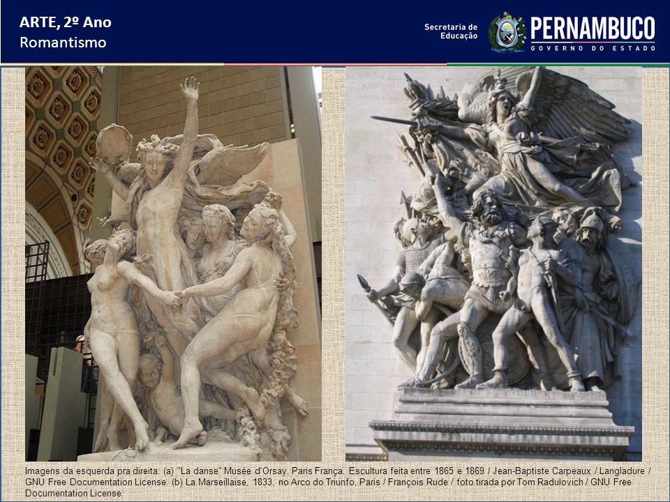 ARTE, 2º Ano Romantismo Imagens da esquerda pra direita: (a)