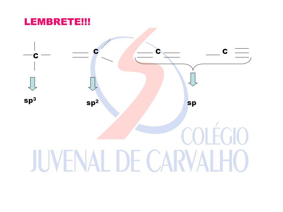 LEMBRETE!!! C C CC sp 3 sp 2 sp