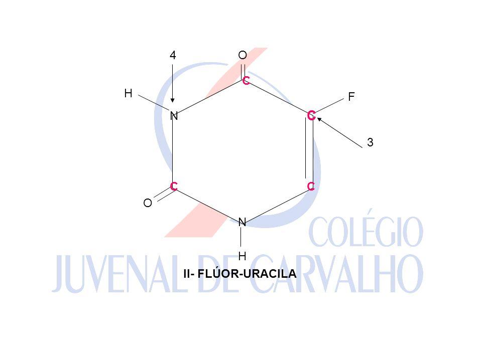 C C CC N N F H H O O 3 4 II- FLÚOR-URACILA C C CC