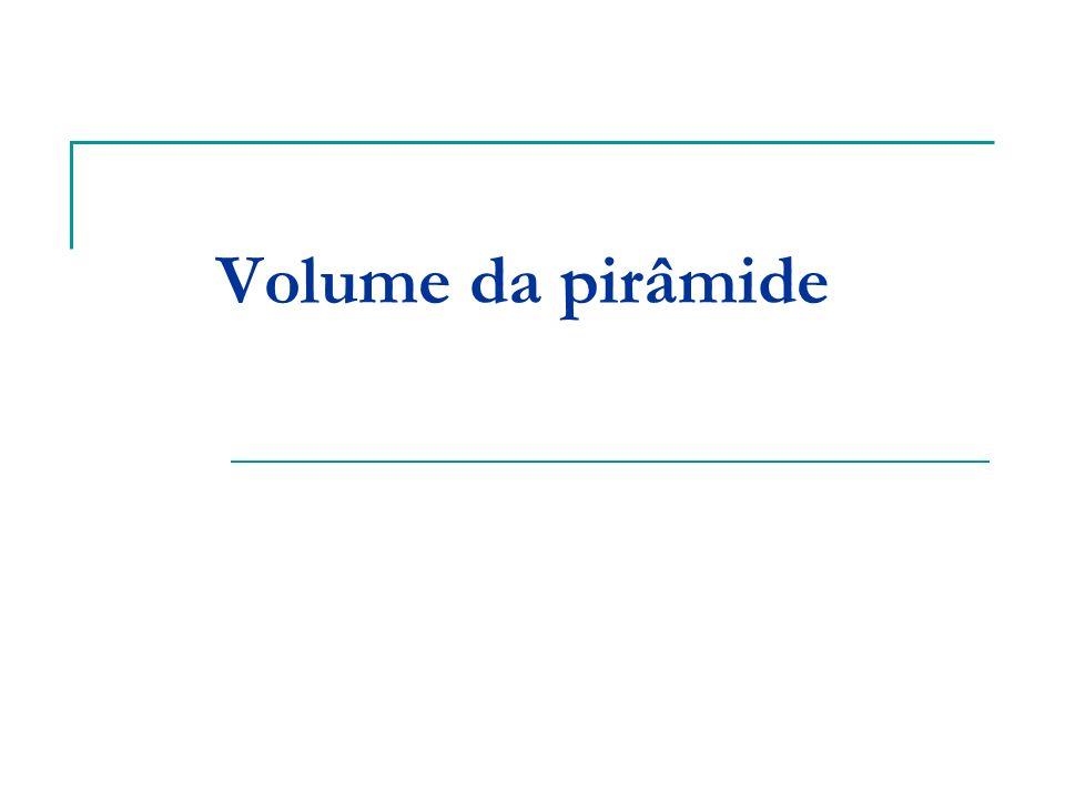 Volume da pirâmide