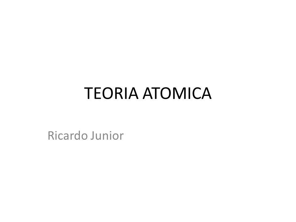 TEORIA ATOMICA Ricardo Junior