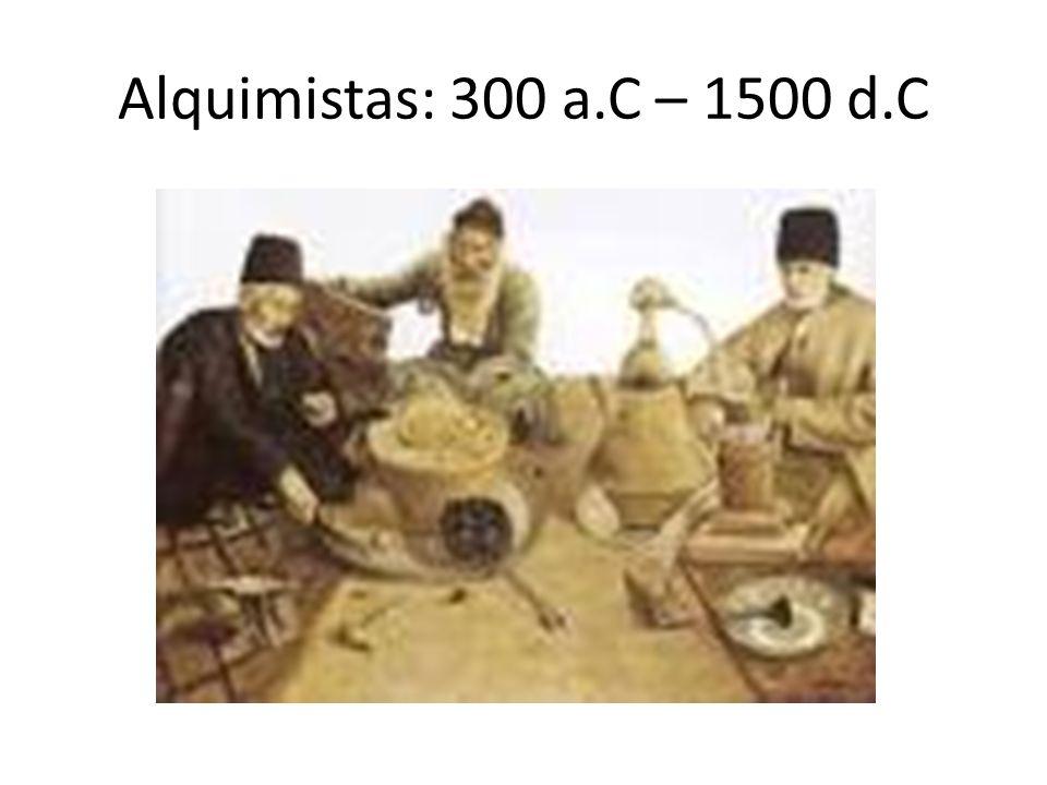 Alquimistas: 300 a.C – 1500 d.C
