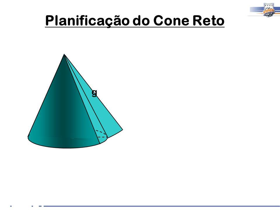 R x h g Planificação do Cone Reto