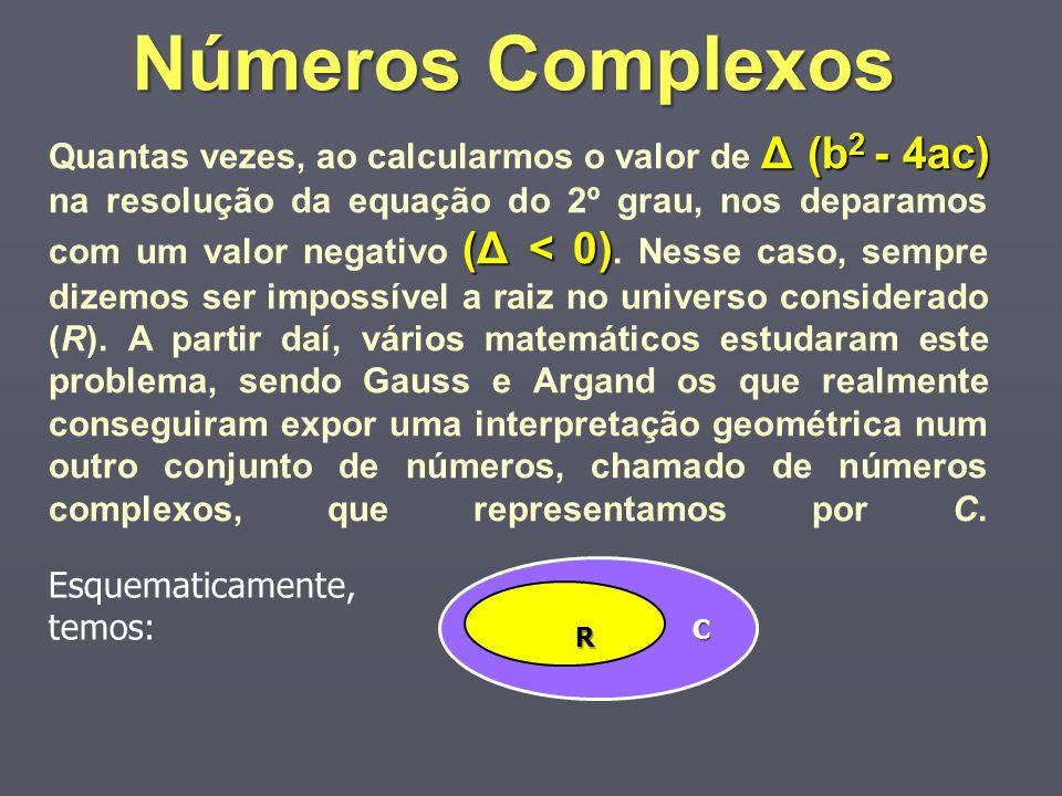 Δ (b 2 - 4ac) (Δ < 0) Quantas vezes, ao calcularmos o valor de Δ (b 2 - 4ac) na resolução da equação do 2º grau, nos deparamos com um valor negativo (