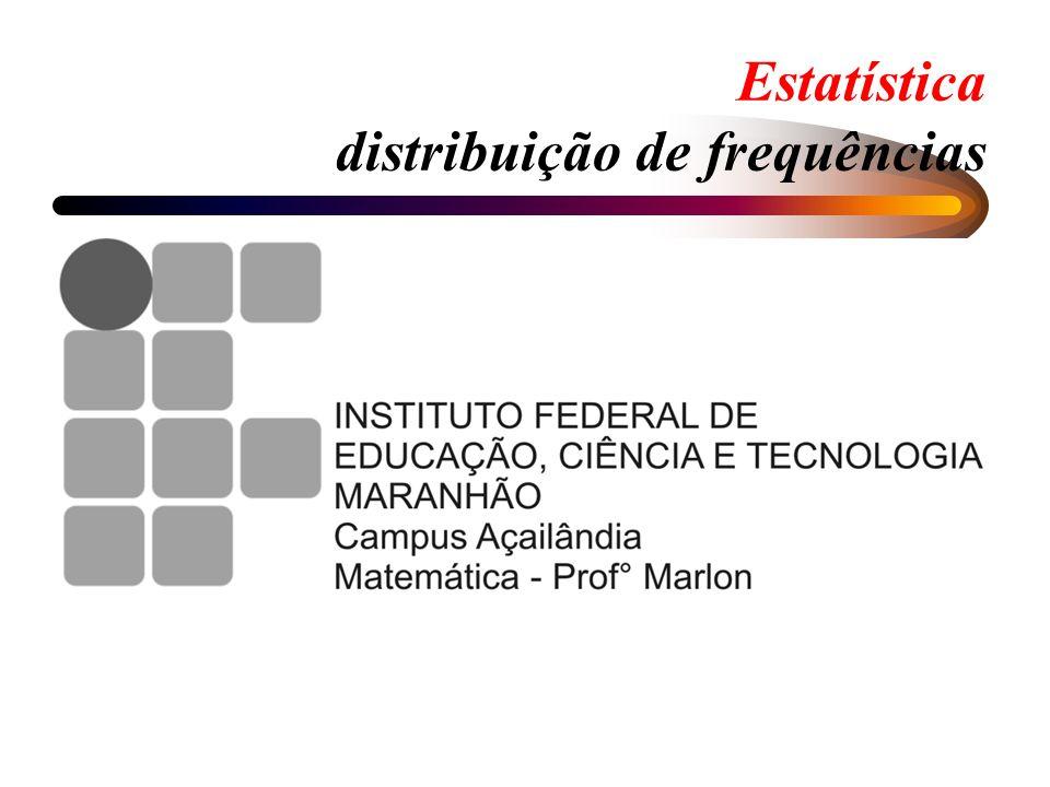 Tabelas de distribuição de frequências ESTATURA (cm) Freq.