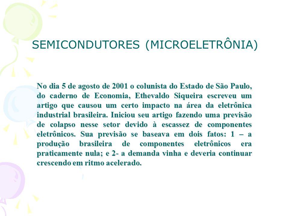 No dia 5 de agosto de 2001 o colunista do Estado de São Paulo, do caderno de Economia, Ethevaldo Siqueira escreveu um artigo que causou um certo impacto na área da eletrônica industrial brasileira.