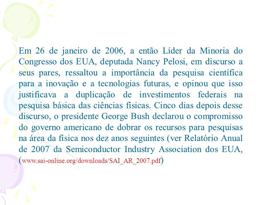 Governo anuncia fábrica de semicondutores no Brasil 10/08/2004 - MDIC Foi anunciado hoje (terça-feira), em Brasília, o primeiro investimento no setor de semicondutores, considerado um dos quatro prioritários pela Política Industrial, Tecnológica e de Comércio Exterior.