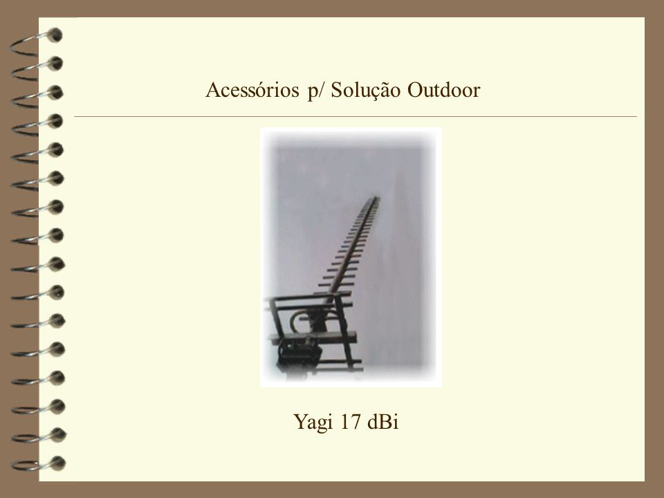 Acessórios p/ Solução Outdoor Yagi 17 dBi