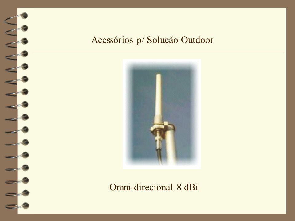Acessórios p/ Solução Outdoor Omni-direcional 8 dBi