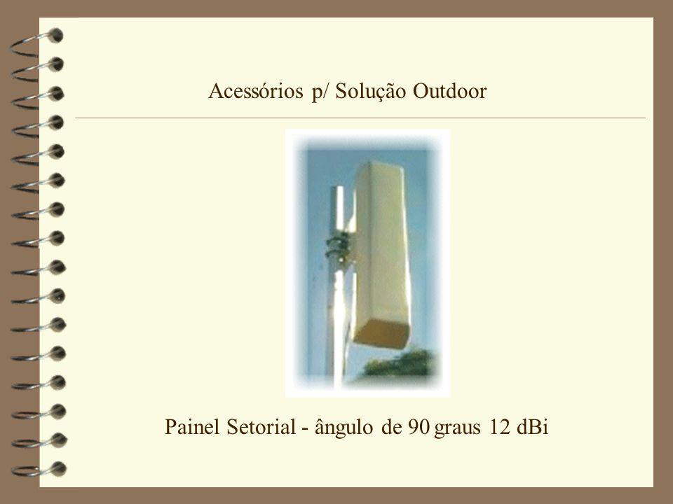 Acessórios p/ Solução Outdoor Painel Setorial - ângulo de 90 graus 12 dBi