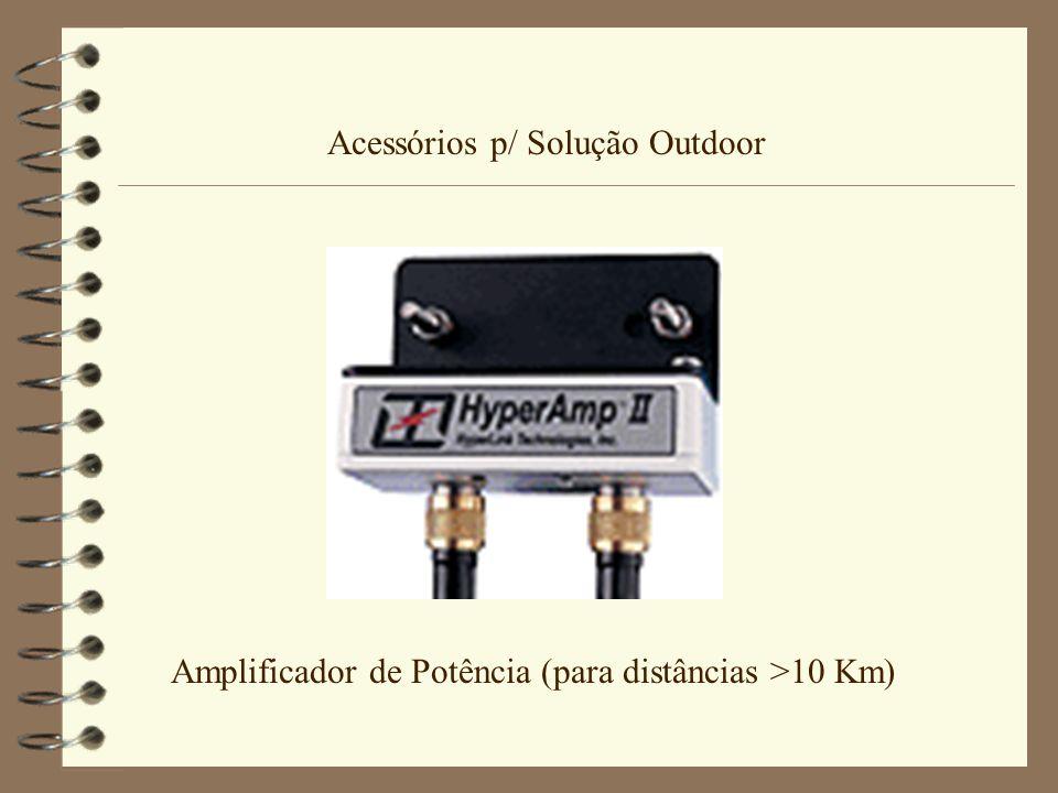 Acessórios p/ Solução Outdoor Amplificador de Potência (para distâncias >10 Km)