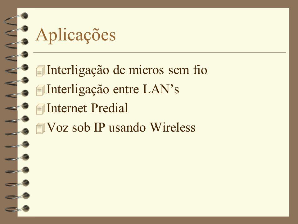 VCS (Virtual Carrier Sense) 4 A estação transmissora primeiramente manda um pequeno pacote chamado RTS (Request to Send) que contém os endereços de origem e destino e também uma estimativa da duração da mensagem.