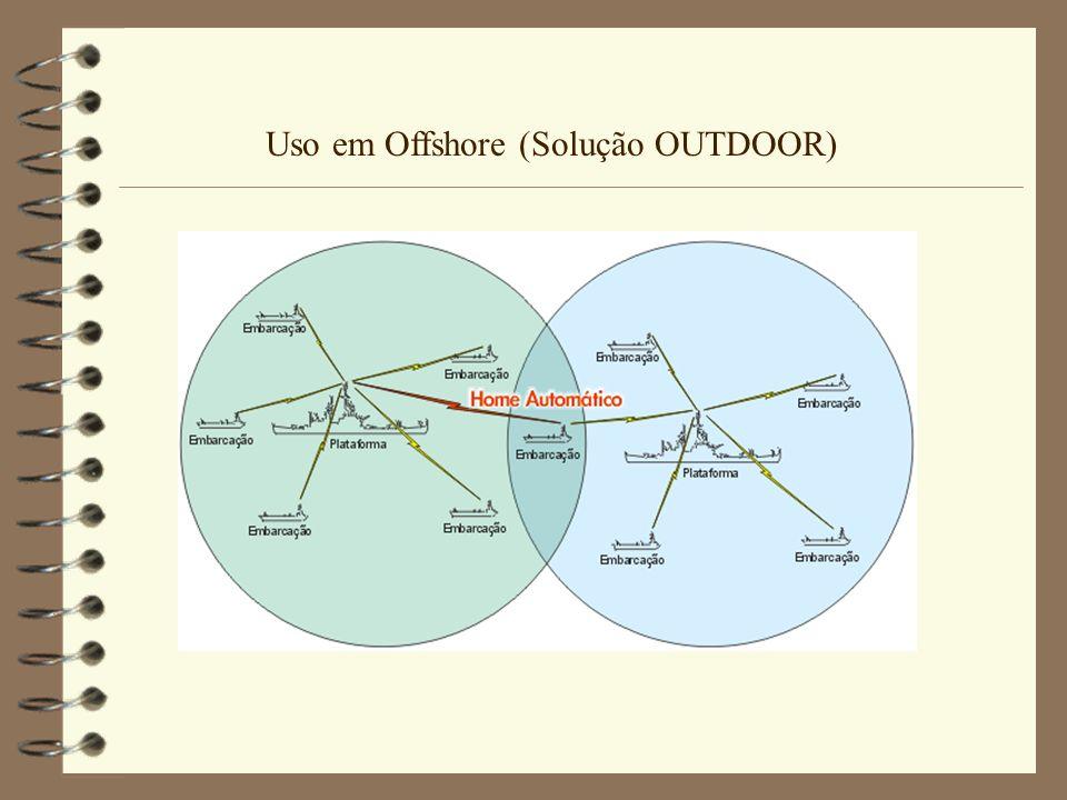 Especificações técnicas 4 Alcance na solução Outdoor com visada direta: 10Km s/amplificador e até 50Km com amplificador 4 Solução Indoor alcance até 400m