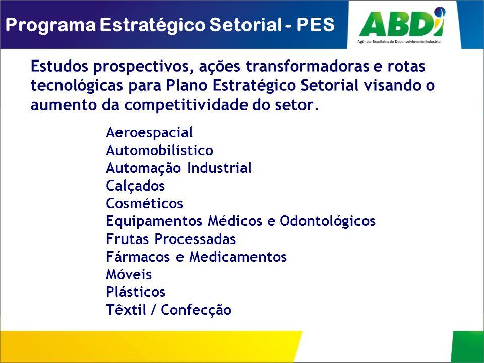Estudos prospectivos, ações transformadoras e rotas tecnológicas para Plano Estratégico Setorial visando o aumento da competitividade do setor. Progra