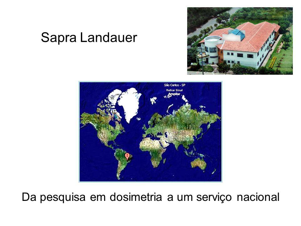 Sapra Landauer Da pesquisa em dosimetria a um serviço nacional Sapra Landauer