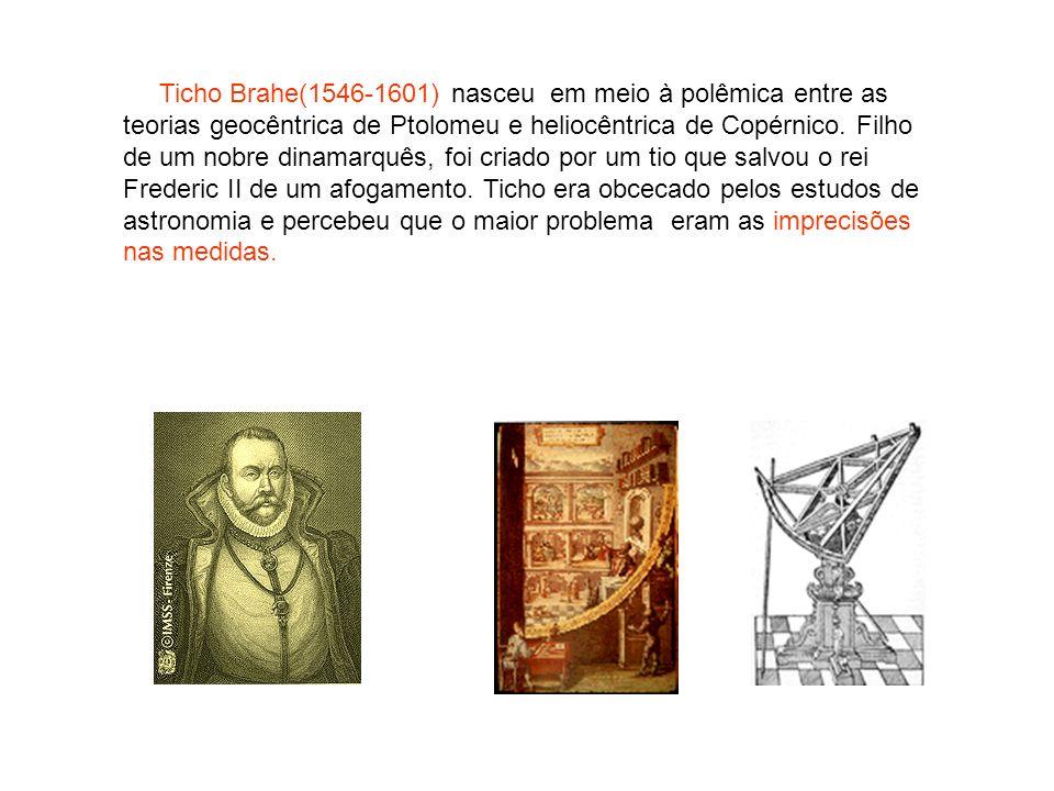 Ticho Brahe(1546-1601) nasceu em meio à polêmica entre as teorias geocêntrica de Ptolomeu e heliocêntrica de Copérnico. Filho de um nobre dinamarquês,