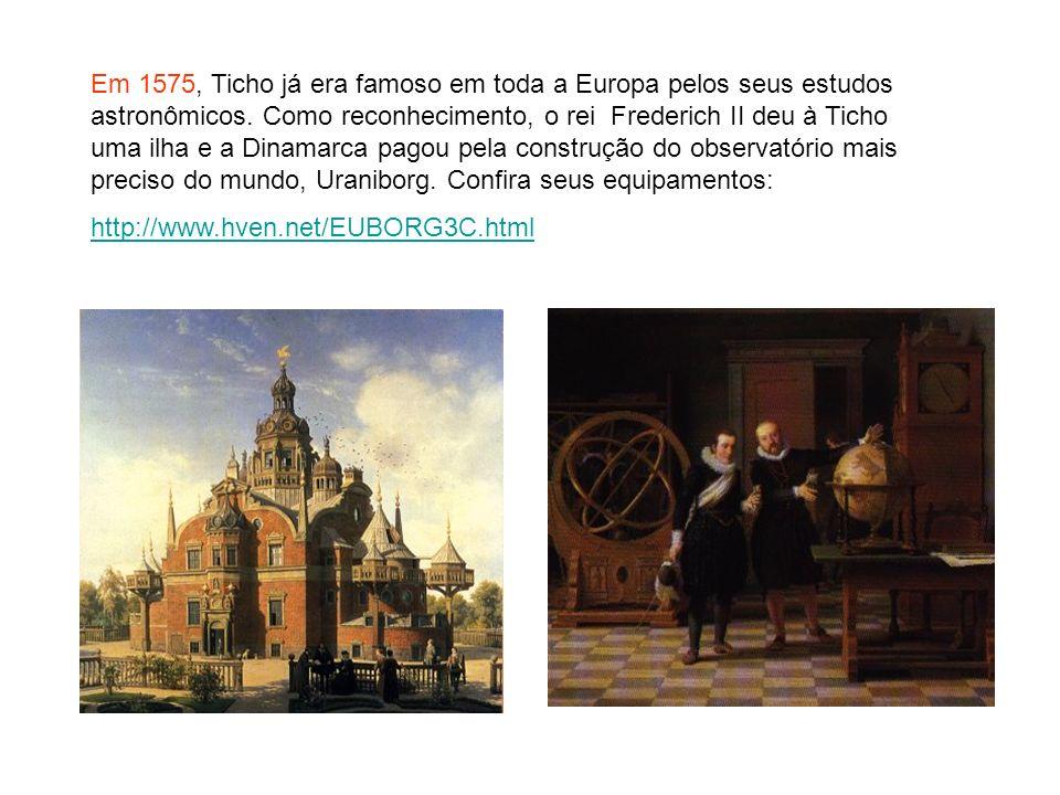 Em 1575, Ticho já era famoso em toda a Europa pelos seus estudos astronômicos. Como reconhecimento, o rei Frederich II deu à Ticho uma ilha e a Dinama