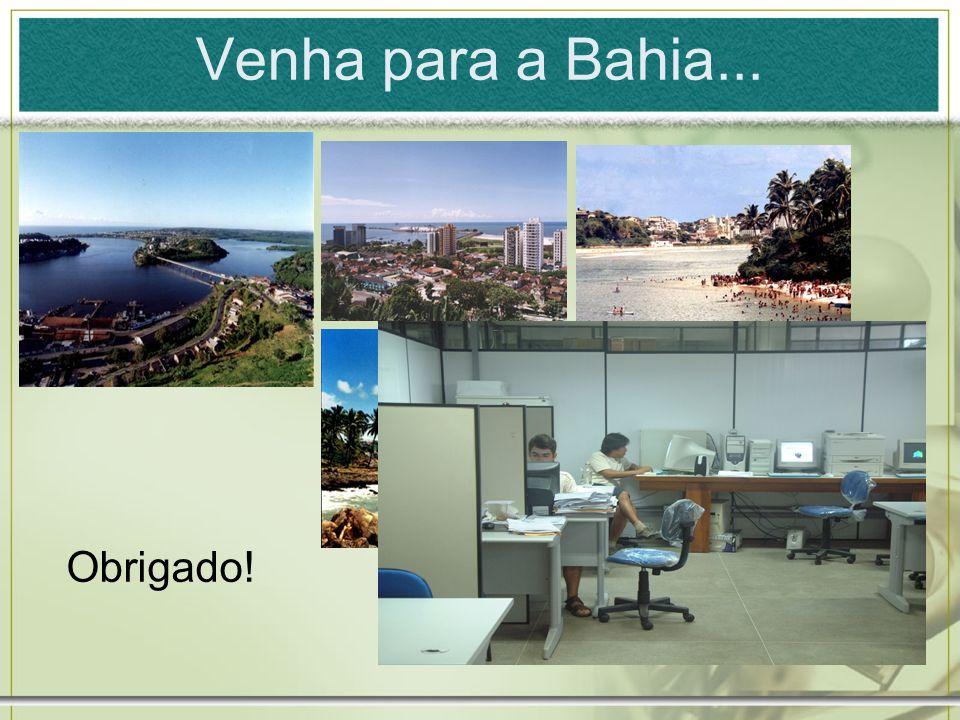 Venha para a Bahia... Obrigado!