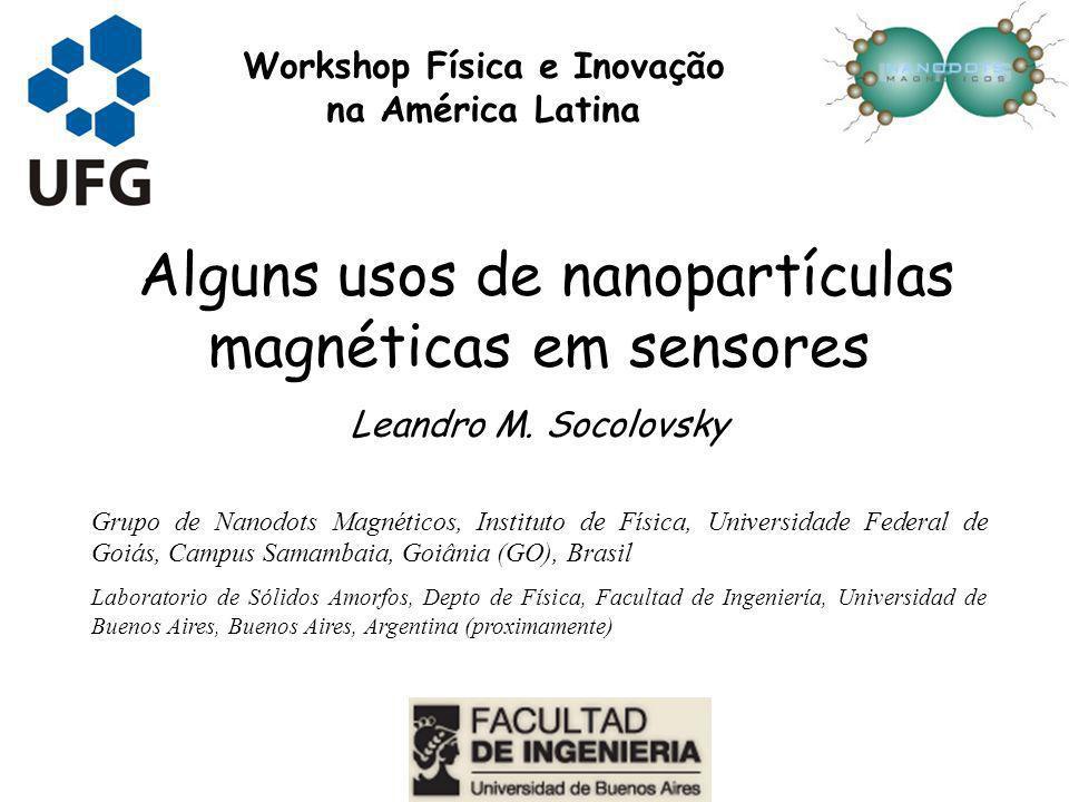 Alguns usos de nanopartículas magnéticas em sensores Leandro M. Socolovsky Grupo de Nanodots Magnéticos, Instituto de Física, Universidade Federal de