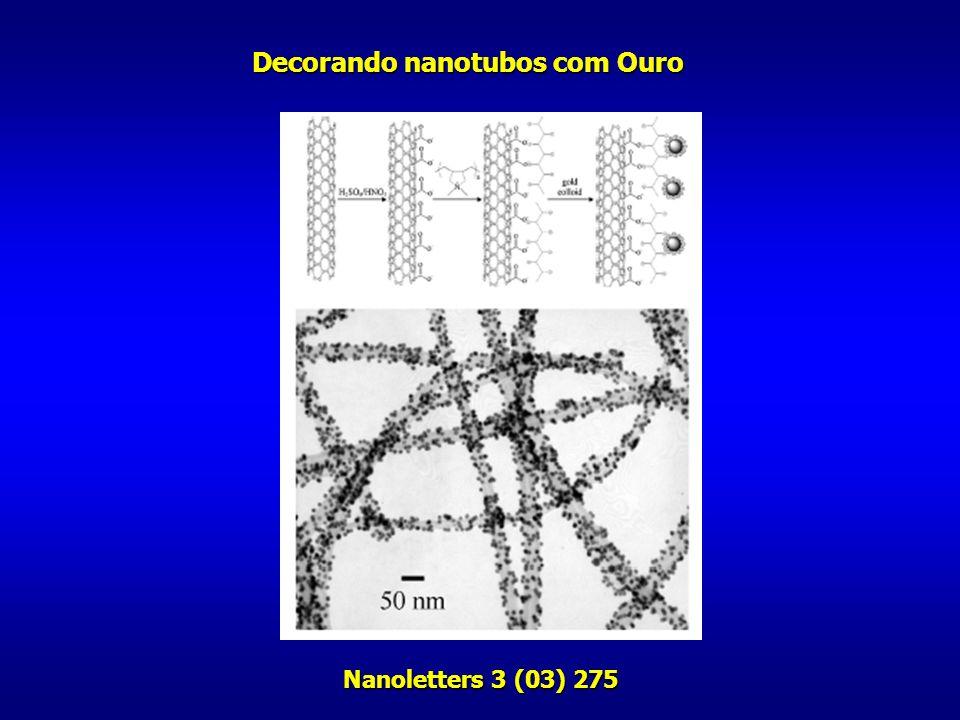 Nanoletters 3 (03) 275 Decorando nanotubos com Ouro