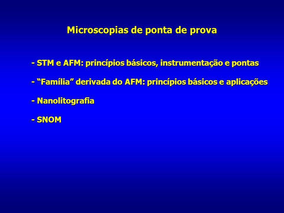 Microscopias de ponta de prova - STM e AFM: princípios básicos, instrumentação e pontas - STM e AFM: princípios básicos, instrumentação e pontas - Fam