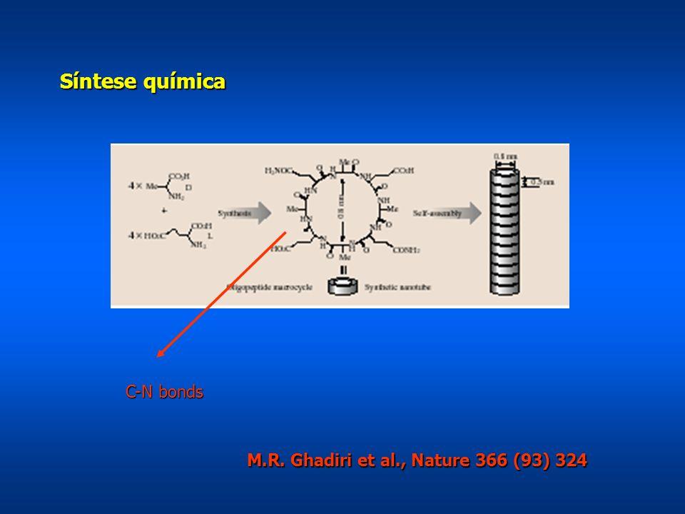 Síntese química C-N bonds M.R. Ghadiri et al., Nature 366 (93) 324