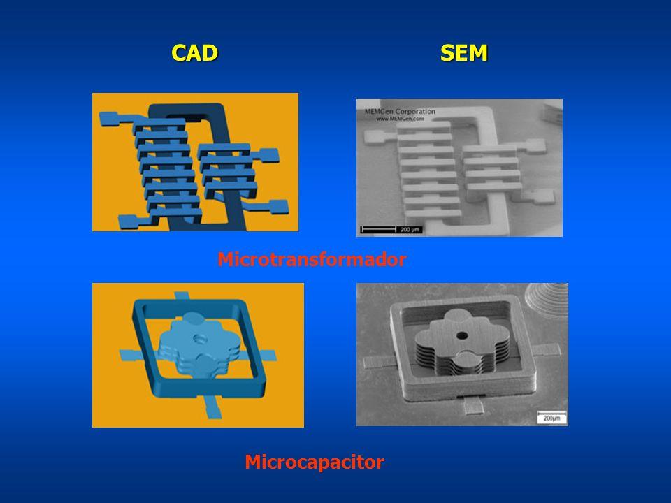 CAD SEM Microtransformador Microcapacitor