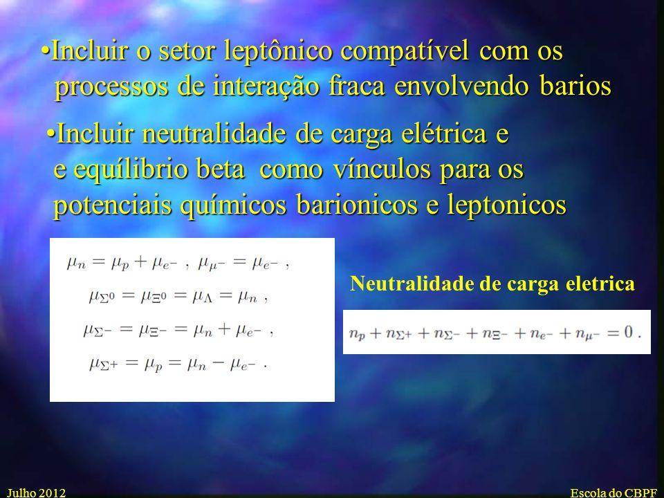 Incluir todo o octeto bariônico with spin 1/2Incluir todo o octeto bariônico with spin 1/2 Fase Hadronica