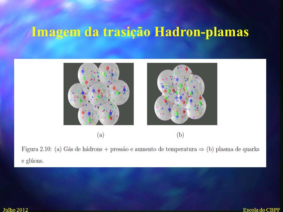 Núcleos + e Núcleos + n + e Hadrons/leptons QGP Uma equação de estado abrangente