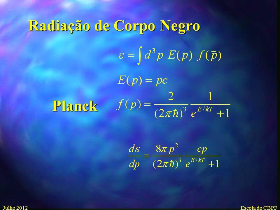 Julho 2004Escola de Verao - CBPF A cor e o brilho das estrelas