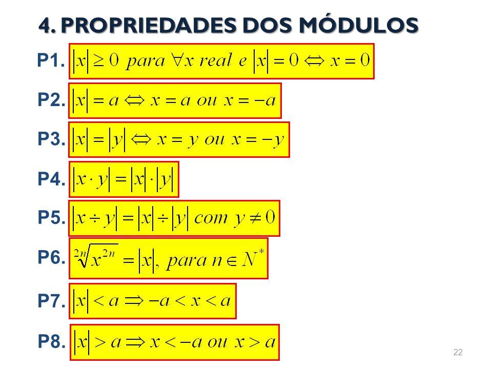 P4. 4. PROPRIEDADES DOS MÓDULOS P1. P2. P3. P5. P6. P7. P8. 22