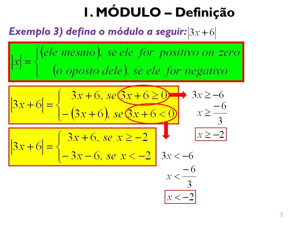 1. MÓDULO – Definição 5 Exemplo 3) defina o módulo a seguir: