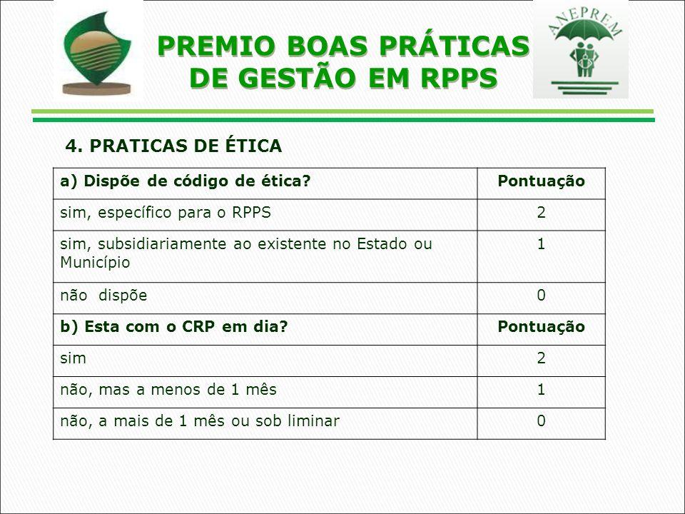 PREMIO BOAS PRÁTICAS DE GESTÃO EM RPPS 4.