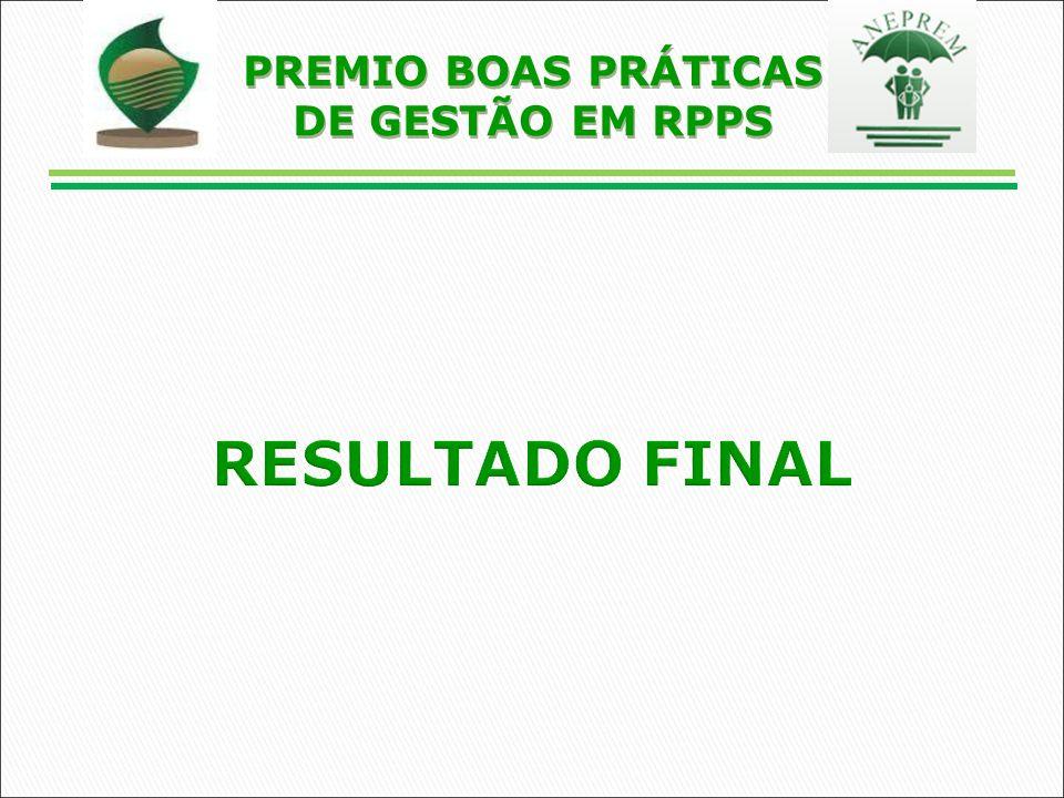 RESULTADO FINAL PREMIO BOAS PRÁTICAS DE GESTÃO EM RPPS