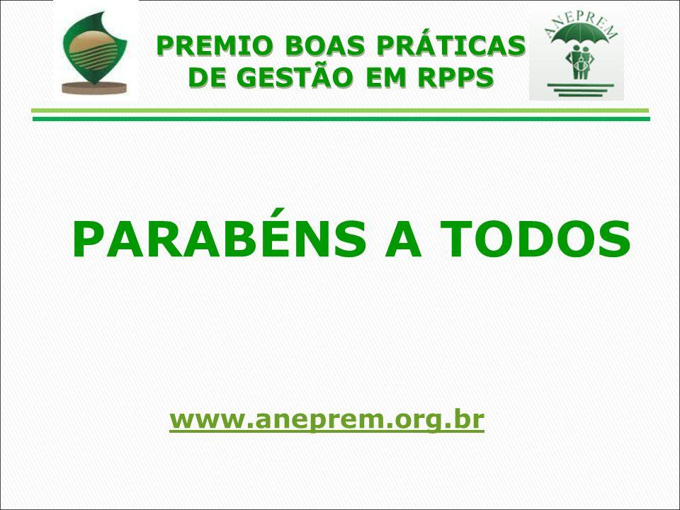PARABÉNS A TODOS www.aneprem.org.br PREMIO BOAS PRÁTICAS DE GESTÃO EM RPPS