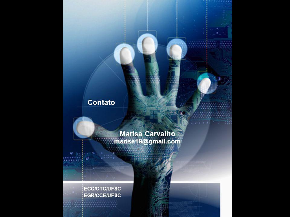 Marisa Carvalho marisa19@gmail.com Contato EGC/CTC/UFSC EGR/CCE/UFSC