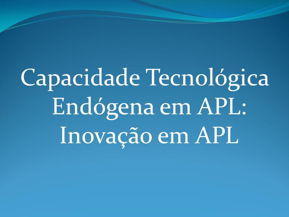 Capacidade Tecnológica Endógena em APL: Inovação em APL
