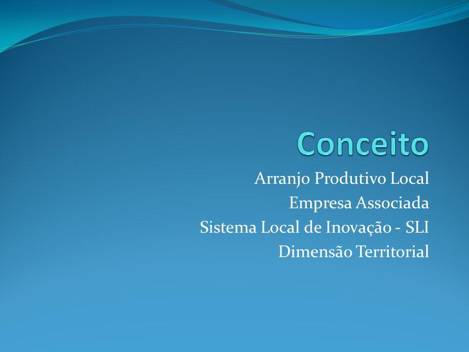 Arranjo Produtivo Local Empresa Associada Sistema Local de Inovação - SLI Dimensão Territorial