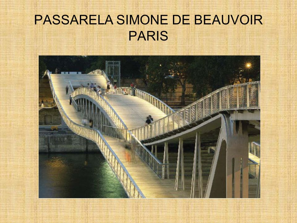 PASSARELA SIMONE DE BEAUVOIR PARIS