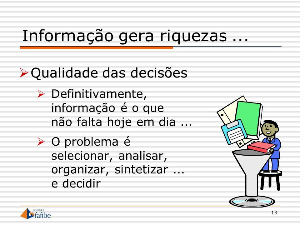 14 Informação é intangível De que vale um CD ou um DVD riscado.