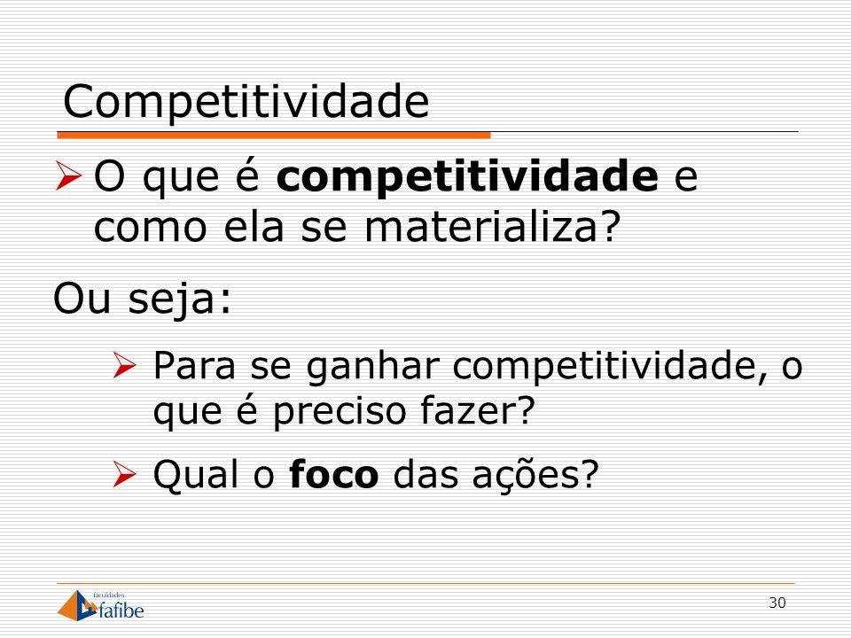 31 Obs: fuja de respostas óbvias como: Ser melhor que os concorrentes Fazer melhor que os outros