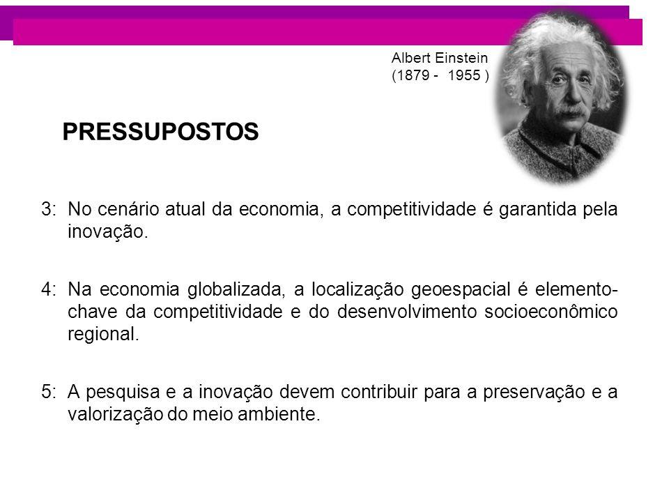 3:No cenário atual da economia, a competitividade é garantida pela inovação. 4:Na economia globalizada, a localização geoespacial é elemento- chave da