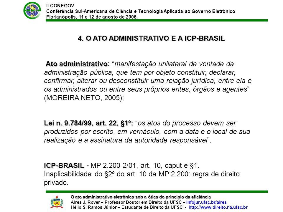 II CONEGOV Conferência Sul-Americana de Ciência e Tecnologia Aplicada ao Governo Eletrônico Florianópolis, 11 e 12 de agosto de 2005.