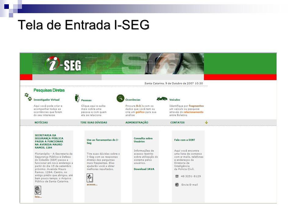 Tela de Entrada I-SEG