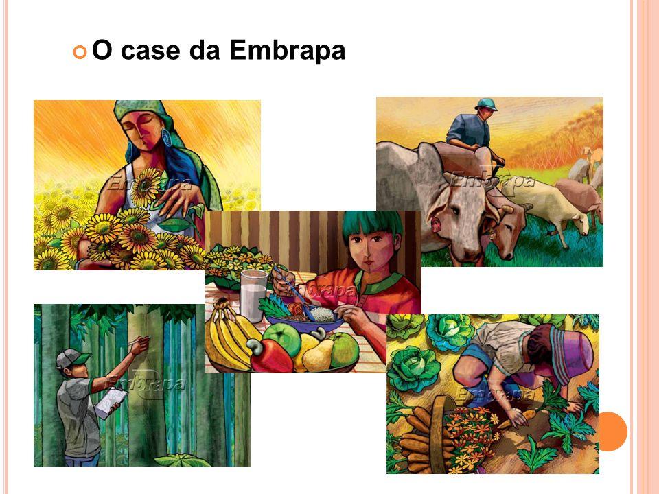Atuação Brasil: 41 uds Exterior - EUA - França - Holanda - África - Venezuela Fonte: http://www.embrapa.br/a_embrapa/enderecos/unids_pesq_serv A Embrapa Empresa Brasileira de Pesquisa Agropecuária Vinculada MAPA